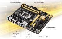 ASUS B85M-E/DASH B85 DDR3 HDMI DVI VGA DP 1150 P4 ANAKART