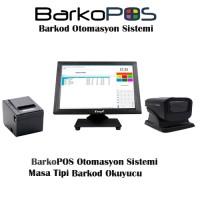 BarkoPOS Plus Otomasyon Paketi (Dokunmatik Pc,Program, Masa Okuyucu ve Yazıcı)