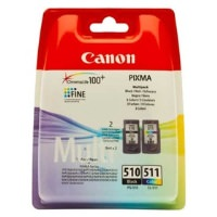 CANON PG-510/CL-511 Siyah ve Renkli Kartuş Multi Pack
