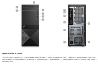DELL N204VD3670BTO_UBU Vostro 3670 i3-8100 4GB 1TB Hazır PC