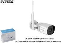 Everest DF-811W 2.0MP 1/3 Renkli Su Geçirmez Wifi Camera TF Kartlı Güvenlik Kamerası