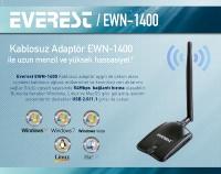 EVEREST EWN-1400 54Mbps Usb 5&7dBi Kablosuz Adaptör