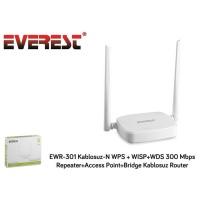 Everest EWR-301 Kablosuz-N WPS-WISP-WDS 300 Mbps Access Point