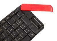 EVEREST KM-220 Siyah/Kırmızı Kablosuz Q Klavye Mouse SET