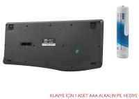 Everest KM-6017 Siyah Usb Kablosuz Q Multimedia Klavye - Mouse Set