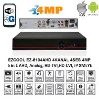 EZCOOL EZ-8104AHD 4MP 4KANAL 4SES AHD DVR KAYIT CİHAZI