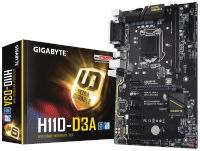 GIGABYTE GA-H110-D3A Intel 1151 DDR4 2400Mhz 5 x PCIE Anakart