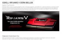 GSKILL RipjawsV 16GB F4-3000C16S-16GVRB DDR4 3000Mhz CL16 (1X16GB) 1.35V Kırmızı