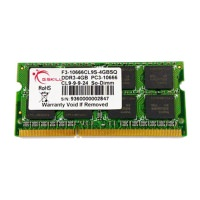 GSKILL Value 4GB DDR3 1333Mhz CL9 SO-DIMM Notebook Ram F3-10666CL9S-4GBSQ