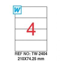 Özel Kesimli 210X74,25MM Etiket