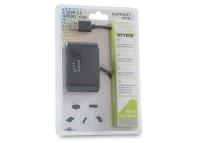 Hytech HY-USBC6 USB3.0 ÇOĞALTICI 3+1Patent Siyah USB 2.0