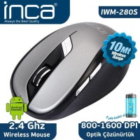 İnca 200R 2.4GHZ Wiriless Siyah-Gri Nano Mouse