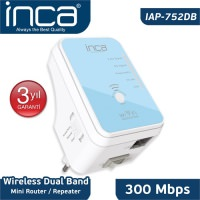 İnca Iap-752Db Wireless 300 Mbps 5 GHz DualBand Mini Router/Repeater