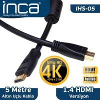 İnca Ihs-05 Altın Uçlu 4k Ultra Hd 3D Hdmı Speed  Cable. 5 Metre