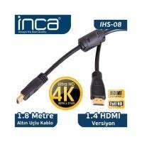 İnca Ihs-08 Altın Uçlu 4k Uçlu Hd 3d Hdmı Speed Cable . 1,8 Metre