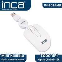 İnca Im-101Rmb Color Series Optic Usb Mini Makaralı Beyaz
