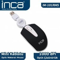 İnca Im-101Rms Color Series Optic Usb Mini Makaralı Siyah