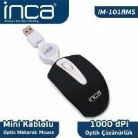 İnca Im-101Rms Color Series Optic Usb Mini Makaralı Siyah