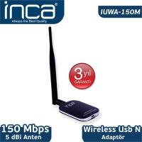 İnca Iuwa-150M 150 Mbps 11N Harici 5dbi Anten Wireless Adaptör 1 KM Menzilli