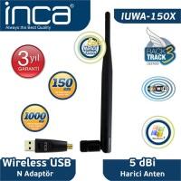 İnca Iuwa-150X 150 Mbps 11N Harici 5dbi Anten Wireless Adaptör 1 KM Menzilli