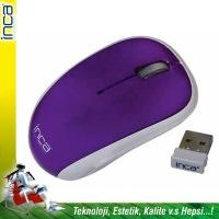 """İnca Iwm-111Rm 2.4Ghz Wireless Nano Alıcılı """"Pil Hediyeli"""" Mouse Mor"""