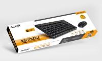 A4 TECH 4100 2.4Ghz Nano Kablosuz SET (Q-Multimedya Klavye + Optik Mouse)