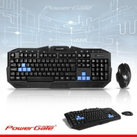 POWERGATE KM-Q7 Kablosuz Multimedya Klavye - Mouse Set