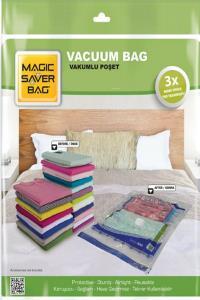 Magic Saver Bag 4'lü Vakumlu Poşet  Seti (1L + 1 XL + 1 XXL + 1 JUMBO)