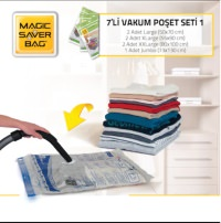 Magic Saver Bag 7´li Vakumlu Poşet Seti 1