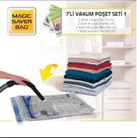 Magic Saver Bag 7´li Vakumlu Poşet Seti 1