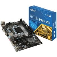 MBİ-MSİ H110M PRO-VD H110 DDR4 2133 1151P