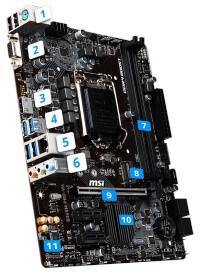 MSI B365M PRO-VH 2666MHz(OC) DDR4 1151p8 M.2 HDMI VGA mATX Anakart