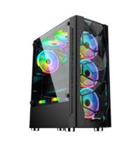 PERFORMAX INFERNO RGB 650W 80+Bronz  Siyah Temp.Cam Atx Kasa