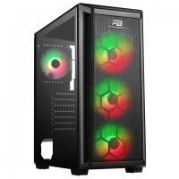 PowerBoost VK-T01B 650w 80+ USB3.0 4xRGB fan Mesh Panel kasa