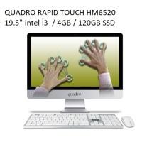 "QUADRO RAPID TOUCH HM6520 T23412 19.5"" İ3   4GB 120GB SSD AIO PC"
