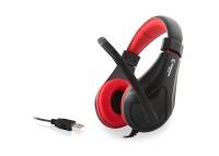 Rampage SN-RU2 Siyah/Kırmızı Oyuncu Usb Mikrofonlu Kulaklık