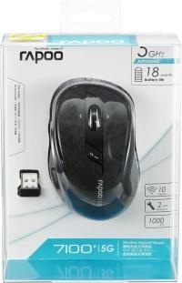 RAPOO 10829 Kablosuz Optik Siyah Mouse 7100P