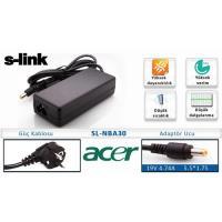 S-Link SL-NBA30 (Acer) 19V4.74A 5.5*1.75 Notebook Adaptör