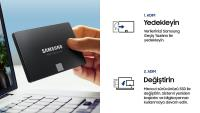 SAMSUNG 2.5 250GB 870 EVO 560MB/530MB MZ-77E250BW SSD HARDDİSK