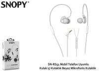 Snopy SN-RS51 Mobil Uyumlu Kulak içi Beyaz Mikrofonlu Kulaklık