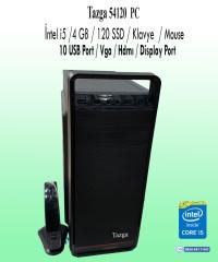 Tazga PC [54120] Intel i5 4GB 120GB SSD Klavye-Mouse Hazır Kasa