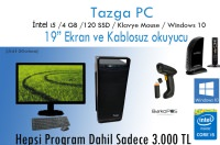 "Tazga PC [54120wbm] I5 4GB 120GB Ssd 19"" Win10 Masaüstü Bilgisayar"