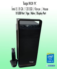 Tazga PC [58120] İntel i5 8GB 120GB Ssd Klavye-Mouse Hazır Kasa