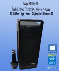 Tazga PC [58120w] İntel i5 8GB 120GB Ssd Klavye-Mouse Win10 Hazır Kasa