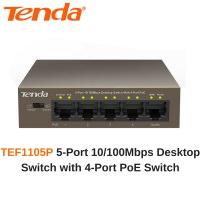 TENDA TEF1105P 5 PORT 10/100 4 Port Poe Switch