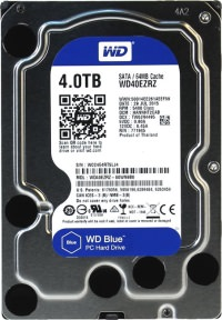 WD Blue 5400Rpm Sata 3 4TB 3.5 Harddisk WD40EZRZ