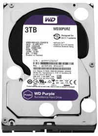"""WD Purple 3TB 3,5"""" SATA III 6Gbit/s 64MB 7/24 Güvenlik Kamerası Diski WD30PURZ"""