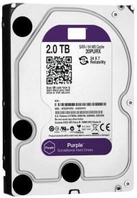 """WD WD20PURX 2TB Intellipower Purple 3.5"""" Sata3 64Mb 7/24 Harddisk"""