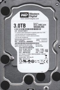 WD. WD30EZRX GREEN 3TB INTELIPOWER 64MB SATA3 6Gbit/sn HDD