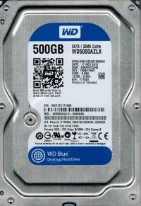 WD Blue 500GB SATA3 7200rpm 32MB 3.5. Harddisk WD5000AZLX